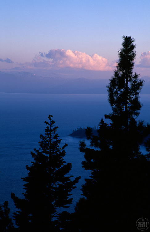 """""""Stateline Point, Lake Tahoe""""- This sunset was photographed from Incline Village, NV, facing southwest.<br /> Photographed: May 2003"""