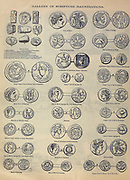 Coins of biblical times from ' The Doré family Bible ' containing the Old and New Testaments, The Apocrypha Embellished with Fine Full-Page Engravings, Illustrations and the Dore Bible Gallery. Published in Philadelphia by William T. Amies in 1883