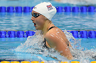 Chloe Tutton of Great Britain on her way to a team Gold Medal in the 4 x 100m Medley during day 14 of the 33rd  LEN European Aquatics Championship Swimming Finals 2016 at the London Aquatics Centre, London, United Kingdom on 22nd May 2016. Photo by Martin Cole.