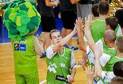 Klemen Prepelic of Slovenia during friendly match between National teams of Slovenia and Ukraine for Eurobasket 2013 on July 26, 2013 in Dvorana Komunalnega centra, Domzale, Slovenia. Slovenia defeated Ukraine 74-46. (Photo by Vid Ponikvar / Sportida.com)