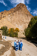 School kids in Kenigan, Yakawlang province, Bamyan, Afghanistan