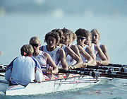 Barcelona, SPAIN.  GBR W8+, . Dot BLACKIE, Katharine BROWNLOW, Philippa CROSS, Fiona FRECKLETON ,  Kate GROSE, Rachel HIRST, Kareen MARWICK,  Sue SMITH  and cox Alison PANERSON. 1992 Olympic Rowing Regatta Lake Banyoles, Catalonia [Mandatory Credit Peter Spurrier/ Intersport Images]