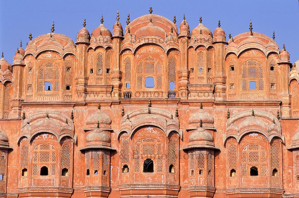 Inde. Rajasthan. Jaïpur. Palais des vent. Hawa Mahal // India. Rajasthan. Jaïpur. Wind Palace. Hawa Mahal.