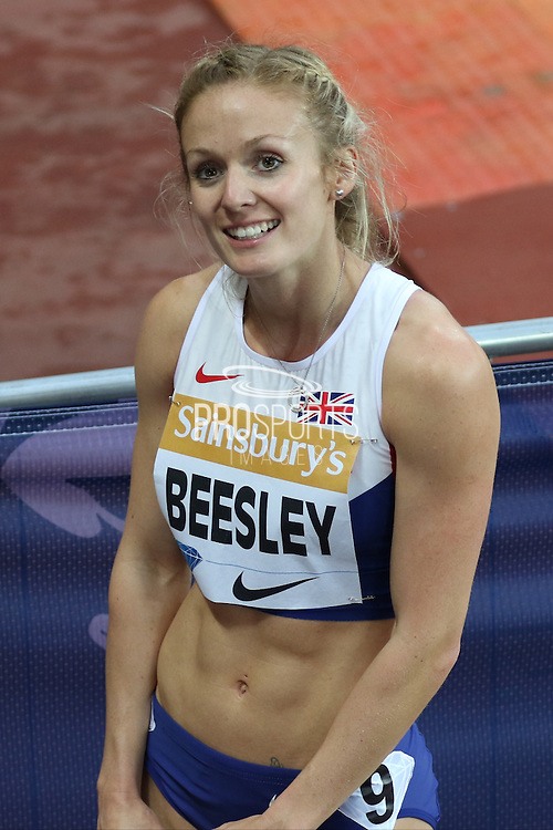 Meghan Beesley during the Sainsbury's Anniversary Games at the Queen Elizabeth II Olympic Park, London, United Kingdom on 24 July 2015. Photo by Ellie Hoad.