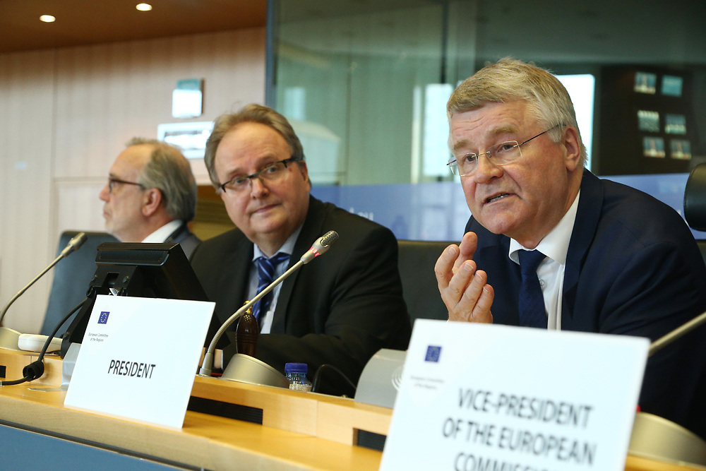 11 May 2017, 123rd Plenary Session of the European Committee of the Regions <br /> Belgium - Brussels - May 2017 <br /> <br /> Markku Markkula, President of the European Committee of the Regions (CoR)<br /> <br /> © European Union / Patrick Mascart