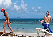 Dave Annable and Odette Yustman..Celebrities on the Beach while attending the Labor Day weekend in Puerto Rico for Hollywood Domino Celebrity Golf Tournament..Palomino Island, Puerto Rico, USA..Saturday, September 03, 2011..Photo By CelebrityVibe.com..To license this image please call (323) 325-4035; or .Email: CelebrityVibe@gmail.com ; .website: www.CelebrityVibe.com.**EXCLUSIVE**