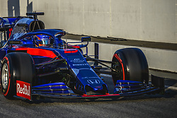 February 19, 2019 - Barcelona, Catalonia, Spain - ALEXANDER ALBON (THA) from team Toro Rosso drives in his in his in his STR14 during day two of the Formula One winter testing at Circuit de Catalunya (Credit Image: © Matthias Oesterle/ZUMA Wire)