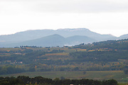 The Dentelles de Montmirail mountain range from the north Vaucluse, France, Europe