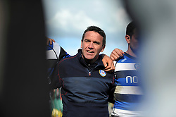 Bath Head Coach Mike Ford speaks to his players after the match - Photo mandatory by-line: Patrick Khachfe/JMP - Tel: Mobile: 07966 386802 19/04/2014 - SPORT - RUGBY UNION - The Recreation Ground, Bath - Bath Rugby v Worcester Warriors - Aviva Premiership.