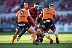 Scarlets Tadhg Beirne<br /> <br /> Photographer Mike Jones/Replay Images<br /> <br /> Guinness PRO14 Round 22 - Scarlets v Cheetahs - Saturday 5th May 2018 - Parc Y Scarlets - Llanelli<br /> <br /> World Copyright © Replay Images . All rights reserved. info@replayimages.co.uk - http://replayimages.co.uk