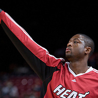 9 October 2008: Dwyane Wade of the Miami Heat is seen prior the New Jersey Nets 100-98 overtime victory over the Miami Heat in an exhibition game at Bercy Arena, in Paris, France.