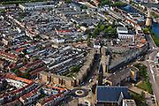 Nederland, Zuid-Holland, Schiedam, 23-05-2011; haven met Noletmolen (wekt energie op voor de distilleerderij) aan de Hoofdstraat, .Nolet mill used for energy for the Nolet Distillery..luchtfoto (toeslag), aerial photo (additional fee required).copyright foto/photo Siebe Swart