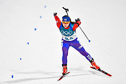 February 10, 2018 - Pyeongchang, South Korea - 180210 Ko Eunjung of Republic of Korea competes in Women's Biathlon 7,5 km Sprint during day one of the 2018 Winter Olympics on February 10, 2018 in Pyeongchang..Photo: Petter Arvidson / BILDBYRN / kod PA / 87614 (Credit Image: © Petter Arvidson/Bildbyran via ZUMA Press)