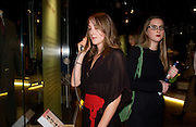 Poppy de Villeneuve and Daisy de Villeneuve, Party hosted by Alexandra Shulman, Rupert Hambro and Prof  Jack Lohman to open 'The London Look, Fashion from Street to Catwalk', Museum of London. ONE TIME USE ONLY - DO NOT ARCHIVE  © Copyright Photograph by Dafydd Jones 66 Stockwell Park Rd. London SW9 0DA Tel 020 7733 0108 www.dafjones.com
