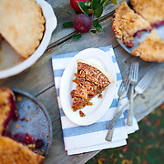 Pies and slice of pie for picnic gathering