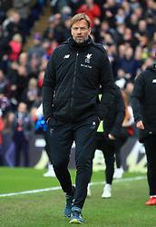 Liverpool manager Jurgen Klopp during the Premier League match at Selhurst Park, London.