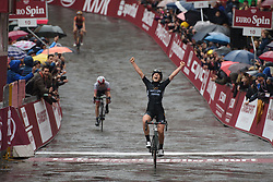 Elisa Longo Borghini (Wiggle High5) wins  Strade Bianche - Elite Women. A 127 km road race on March 4th 2017, starting and finishing in Siena, Italy. (Photo by Sean Robinson/Velofocus)