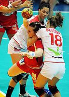 Håndball , 20. desember 2009 , Norge - Spania , Bronse-finale , hvor nordk tok 3. plassen<br /> World Cup China Game to square 3 Spain Norway 20 28 Karoline Dyhre Breivang (C<br /> Norway only