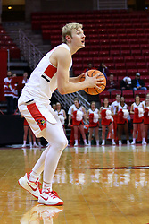 22 November 2017:  Isaac Gassman during a College mens basketball game between the Quincy Hawks and Illinois State Redbirds in  Redbird Arena, Normal IL