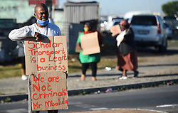 South Africa- Cape Town - 01 June 2020- Scholar Transporter Association of South Africa members picketing on the corner of Steve Biko road in Mandela Park.Their complain is that the government never thought of them during this covid-19 lockdown,they are not earning anything and there were no plans for them.Now their families are suffering and need to put bread on the table .photographer :Phando Jikelo/African News Agency(ANA)