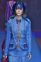 Model Mae Mei Lapres walks on the runway during the Gucci Fashion Show during Milan Fashion Week Spring Summer 2018 held in Milan, Italy on September 20, 2017. (Photo by Jonas Gustavsson/Sipa USA)