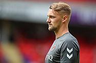Charlton Athletic defender Patrick Bauer (5) during the EFL Sky Bet League 1 match between Charlton Athletic and Shrewsbury Town at The Valley, London, England on 11 August 2018.