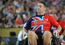 Grant Harvey of Great Britain - Photo mandatory by-line: Dougie Allward/JMP - Mobile: 07966 386802 - 12/09/2014 - The Invictus Games - Day 2 - Wheelchair Rugby - London - Copper Box Arena