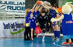 Liudmila Bodnieva of Krim during handball match between RK Krim Mercator and Gyori Audi ETO KC (HUN) in 3rd Round of Group B of EHF Women's Champions League 2012/13 on October 28, 2012 in Arena Stozice, Ljubljana, Slovenia. (Photo By Vid Ponikvar / Sportida)