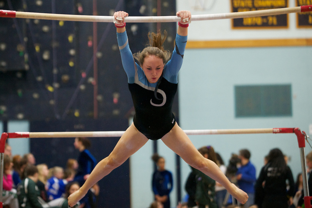 The high school gymnastics state championship at Essex High School on Saturday afternoon February 25, 2012 in Essex, Vermont.