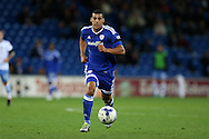 Lee Peltier  of Cardiff city in action .EFL Skybet championship match, Cardiff city v Sheffield Wednesday at the Cardiff city stadium in Cardiff, South Wales on Wednesday 19th October 2016.<br /> pic by Andrew Orchard, Andrew Orchard sports photography.