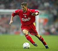 Fotball: Liverpool two-goal hero Michael Owen in action against Birmingham City during the FA Cup 3rd Round match at Anfield. Liverpool won 3-0. Saturday 5th January 2002.<br /><br />Foto: David Rawcliffe, Fotball