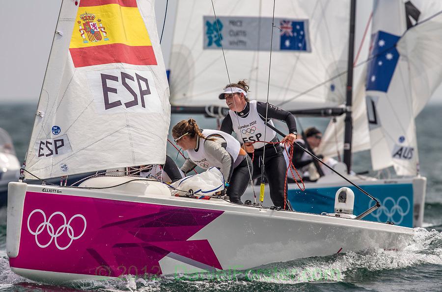 GOLD:<br /> Echegoyen Tamara, Toro Sofia, Pumariega Angela, (ESP, Match Race)<br /> Curtis Nina, Whitty Lucinda, Price Olivia, (AUS, Match Race)<br /> 2012 Olympic Games <br /> London / Weymouth