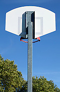 back of a basketball hoop