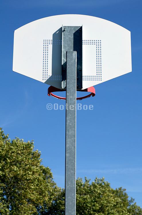 back of a basketball hoop