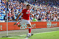 Bristol City's Matty James (6) take a corner during the EFL Sky Bet Championship match between Cardiff City and Bristol City at the Cardiff City Stadium, Cardiff, Wales on 28 August 2021.