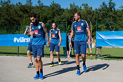 July 4, 2018 - Gelendzhik, Russia - 180704 Jimmy Durmaz and Andreas Granqvist of the Swedish national football team at a practice session during the FIFA World Cup on July 4, 2018 in Gelendzhik..Photo: Petter Arvidson / BILDBYRÃ…N / kod PA / 92081 (Credit Image: © Petter Arvidson/Bildbyran via ZUMA Press)