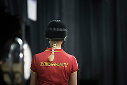 Von Bredow-Werndl Jessica, (GER), Unee BB <br /> Training session<br /> Reem Acra FEI World Cup™ Dressage Finals <br /> Las Vegas 2015<br />  © Hippo Foto - Dirk Caremans<br /> 15/04/15