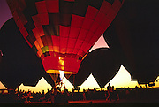 Burners light the night during the Kodak Albuquerque International Balloon Fiesta balloon glow event.