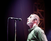 Oasis performing at Nangang Exhibition Center, Taipei, Taiwan
