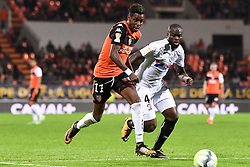 October 24, 2017 - Lorient, France - 11 Faiz SELEMANI (lor) - 04 Ismael DIOMANDE  (Credit Image: © Panoramic via ZUMA Press)