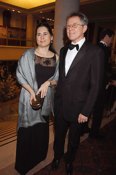ALEXANDRA SHULMAN and DAVID JENKINS at the Feast of Albion a sumptious locally-sourced banquet in aid of The Soil Association held at The Guildhall, City of London on 12th March 2008.<br />