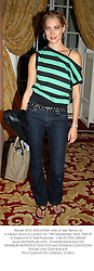 Model HEIDI WICHLINSKI wife of Seb Bishop at a fashion show in London on 19th September 2003.PMS 57