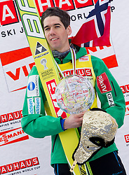 BARDAL Anders (NOR), overall World Cup Champion celebrates at trophy ceremony after the Flying Hill Individual competition at 4th day of FIS Ski Jumping World Cup Finals Planica 2012, on March 18, 2012, Planica, Slovenia. (Photo by Vid Ponikvar / Sportida.com)