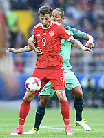 v.l. Fedor Smolov, Bruno Alves (Portugal)<br /> , 21.06.2017, Fussball, Confederations Cup 2017 in Russland, Russland - Portugal 0:1<br /> <br /> Norway only