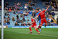 Peterborough United forward Ivan Toney (17) misses a headed chance during the EFL Sky Bet League 1 match between Peterborough United and Accrington Stanley at London Road, Peterborough, England on 20 October 2018.