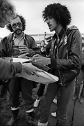 Thin Lizzy - Phil Lynott backstage at Festival 1979