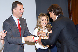 "03.05.2011, Mapfre Foundation in Madrid, ESP, Accreditation ceremony of the 4 th Promotion of ""Honorary Ambassadors Spain Brand"", im Bild Prince Felipe of Spain and Princess Letizia of Spain attends the Accreditation ceremony of the 4 th Promotion of ""Honorary Ambassadors Spain Brand"" to Rafael Nadal at Mapfre Foundation in Madrid. EXPA Pictures © 2011, PhotoCredit: EXPA/ Alterphotos/ ALFAQUI +++++ ATTENTION - OUT OF SPAIN / ESP +++++"