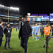 NEW YORK, NEW YORK - November 06: Head coach Patrick Vieira of New York City FC leaves the field after his sides 5-0 loss during the NYCFC Vs Toronto FC MLS playoff game at Yankee Stadium on November 06, 2016 in New York City. (Photo by Tim Clayton/Corbis via Getty Images)