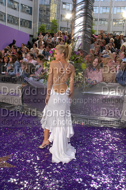 Sarah Dunn. The 2005 British Soap Awards, BBC TV Studios. London. May 7 2005. ONE TIME USE ONLY - DO NOT ARCHIVE  © Copyright Photograph by Dafydd Jones 66 Stockwell Park Rd. London SW9 0DA Tel 020 7733 0108 www.dafjones.com