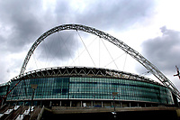 Photo: Daniel Hambury.<br /> Wembley Stadium. 14/06/2006.<br /> A general view of the new home of English football, Wembley, seen from the site of the water feature.